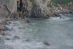 Chapel Door high tide (chrisw09) Tags: sea rocks tide pebbles filter nd manorbier hightide