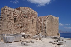 Church of St. John on the Acropolis (Alexanyan) Tags: greece greek rhodes rodos lindos old city fortress hellas hellenic grecia grece griechland հունաստան ελλαδα