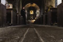 Silencio (Paco Fuentes Vicario) Tags: oración silencio iglesia church silence culto arte oscuro dark alberca salamanca suelo piedra stone brown marrón altar mujer lady floor pray grey comunidadespañola depthoffield dreamsplaces
