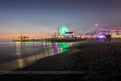 Los Angeles Santa Monica Pier (patrice.baissac) Tags: usa etatsunis plage beach nuit santamonica venicebeach night pier jetée poselongue longexposure losangeles la