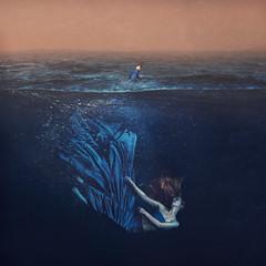 let it go (brookeshaden) Tags: brookeshaden underwater halfunderwater fineartphotography selfportrait conceptualart