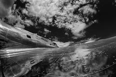 Aluminum Overcast (speedcenter2001) Tags: plane airplane oshkosh eaa airshow warbird vintage manualfocus d7000 nik sep2 wisconsin 2012 airventure ww2 propeller b17 wing fisheye rokinon8mmf35 silverefexpro2