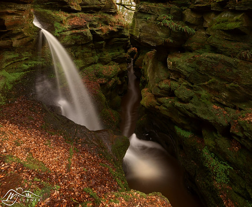 Crichope Linn (►►M J Turner Photography ◄◄) Tags: crichopelinn dumfriesgalloway scotland southscotland nithsdale waterfall cascade glen chasm gorge moss fern magical enchanting secret secretplace