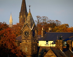 Rooftops in Harrogate (Tony Worrall) Tags: north country place visit area county attraction open stream tour capture outside outdoors caught photo shoot shot picture captured yorkshire yorks scene scenery england northern uk update location welovethenorth harrogate town spire church tower clocktower roof rooftops clock