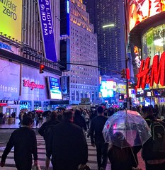 Times Square in Light Rain (JFGryphon) Tags: timessquare lightrain brolly umbrella