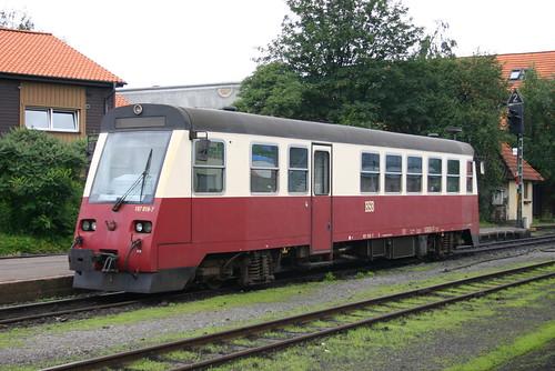 HSB: Triebwagen 187 018-7 in Wernigerode