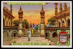 Liebig Tradecard S853 - Ibrahim Rauza Mosque, Bijapur (cigcardpix) Tags: tradecards advertising ephemera vintage chromo liebig india