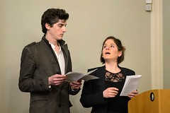 Nick Delvalle and Gloria Sanders (davidshort) Tags: britishacademy nickdelvalle gloriasanders karelčapek rur rossumsuniversalrobots mattcrossick czechliterature 2017