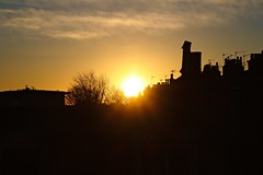 IMG_1239 (LezFoto) Tags: sunrise aberdeen scotland canon eosm rooftops sky clouds silhouette aerials chimnay chimneys sun morning