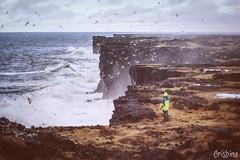 Saxhólsbjarg (Crisbina) Tags: islanda reykjavík snow sea ocean neve ghiaccio ice panorama landscape natura nature fire fuoco acqua terra aria birds auroraboreale northerlighs uccelli scogliera