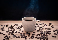 How about a Coffee? (ToMpI97) Tags: coffee beans cup mug glass board wood pure natural bravos yummy steam backdrop brew espresso hungary morning mood tumblr instagram insta filter warm hot sip bokeh sharp focus flash softbox