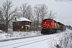 4591 (ontario photo connection) Tags: canadiannationalrailway cn winter railroad railway rails train locomotive locomotives balasub quaker stouffville gormley abandonedhouse abandoned derelict decay rurex
