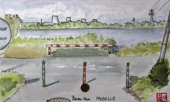 Le Tour de France virtuel - 57 - Moselle (chando*) Tags: croquis aquarelle watercolor sketch france