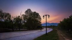 Sunset in Fatima Jinnah Park Islamabad (hamzaqayyum) Tags: sunset pathway longexposure orange outdoor park pakistan