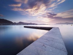A reflective moment (Stephen Elliott Photography) Tags: majorca mallorca puerto pollenca morning sunrise seascape long exposure olympus em1 mk2 nisi filters