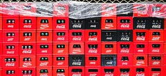 Branding the world (matteoleoni1) Tags: cocacola drink food brand marca bottles glass cajas box street urban red colours black