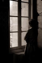 Introspection (mehdimoi) Tags: capture blackandwhite bnw mélancolie love réflexion fenêtre window woman girl solitude