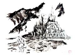 Minas Tirith Fan Art (brianaudano) Tags: minastirith middleearth gandalf lordoftherings tolkien sumi fanart