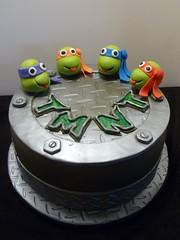 Teenage Mutant Ninja Turtles Cake by Yvonne C. Twin Cities MN, www.birthdaycakes4free.com