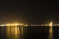 Las Palmas Harbor (Giovanni Toso) Tags: sea grancanaria night canon lights harbor ships promenade 1750 tamron laspalmas 550d