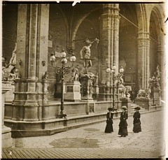 Italy, Loggia dei Lanzi Florence c1910 r (AndyBrii) Tags: camera italy stereo richard 1910 viewer slides 1908 transparencies verascope taxiphote
