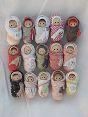 Bunch of Bebes!!! (ElfinHugs) Tags: baby miniature doll handmade oneofakind ooak tiny bjd bundle bundlebaby