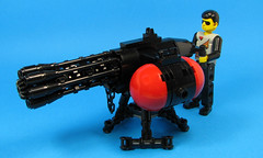 Mini Vulcan gattling gun, or a maxi minigun?? (Karf Oohlu) Tags: lego minigun moc gattlinggun technicfigure
