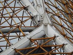 Melbourne Arts Centre (mikecogh) Tags: geometric architecture pipes angles melbourne beams lattice joins artscentre flexible