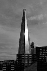The Shard (johnaalex) Tags: england bw london shard nikkorafs2470f28ged d800e