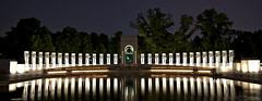 World War II Memorial by night (Anthony Citrano) Tags: dc washington memorial war atlantic worldwarii ww2