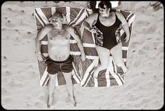 British invasion (c_c_clason) Tags: leica summer blackandwhite beach summicron british 40mm schwarzweiss mallorca sunbathing summicronc portocristo leicam8