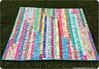 Jelly Roll Race Quilt (627HandWorks - Julie Hirt) Tags: pink blue red orange green yellow aqua quilt embroidery quilting lime binding backing jellyroll shellpattern quiltlabel sisboom dsquilts jenniferpaganelli deniseschmidt quilttag jellyrollquilt jellyrollrace