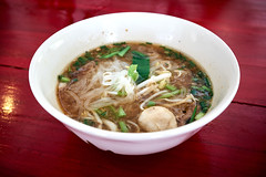 Rice Noodle in Traditional Pork Blood Soup (Dozzo Flamenco) Tags: