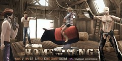 SET: Home On The Range Poster! (Boystown SL) Tags: party hat set barn costume cowboy boots country bull event range chaps