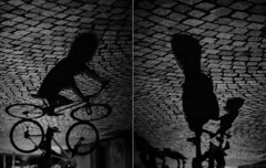 street megaminds (Zbojniiik) Tags: street bw italy black contrast photography 50mm big diptych shadows head deep down strong f18 upside afs rivadelgarda d700 megamind