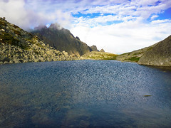Tatra Mountains (maartino) Tags: travel summer sky mountain lake holiday mountains green nature clouds landscape outside lumix pond scenery rocks view outdoor hill trail slovakia summertime tatra chata teryho