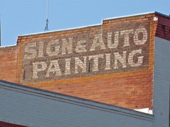 Sign & Auto Painting, Butte, MT (Robby Virus) Tags: auto brick sign wall painting montana butte ghost ad advertisement