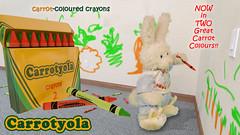 Carrotyola Carrot Coloured Crayons (ZackRabbit) Tags: rabbit bunny animal toys stuffed plushies stuffedanimals cookinwifrabbitsads