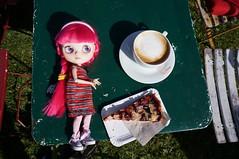 Enjoying coffee and cake ...