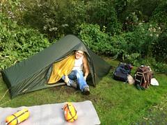 Tijs in the mini-tent (TijsB) Tags: camping lake nature utrecht rowing fkk loosdrechtseplassen gaycouple naturists devierelementen tijsjoan naturistenvereniging