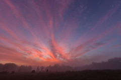 9-25-13 sunrise mist (4myrrh1) Tags: morning usa cloud mist misty clouds sunrise canon rebel virginia colorful unitedstates richmond va richmondva morn t3i cloudsstormssunsetssunrises
