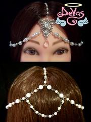 HEADDRESS PEARL (VENDIDO!) (Devas Acessrios) Tags: handmade crown pearl diadema alternative bindi headdress headwear acessrios devas
