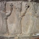 De tre vise männen (the three magi, kings from the east), Sigrafs dopfunt, Grötlingbo kyrka (church), Gotland thumbnail