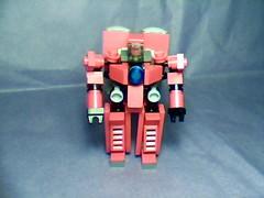 Crimson Tower (front view) (Jandyman) Tags: red robot lego scifi custom mecha droid mech robo automata automaton mfz constructionblocks mobileframe mf0 mobileframezero