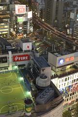 Soccer on the roof (vigorare) Tags: city nightphotography panorama japan night japanese lights tokyo view pentax shibuya smc k10 k10d smcpentaxda smcpdal35mmf24al