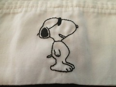 Snoopy Pillowcase (wickedbear) Tags: madeit uploaded:by=flickrmobile flickriosapp:filter=nofilter