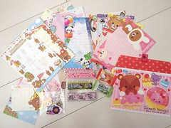 Swap Ready: :* kawaii stationary swap *: for DiscoRia (happyakuen) Tags: japan japanese tokyo hellokitty sanrio swap kawaii crux stationary felissimo qlia rilakkuma sanx kamio swapbot