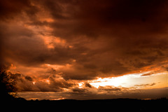 Power (Aozma Qureshi) Tags: sunset sun storm clouds landscape war yahoo:yourpictures=duskdawn