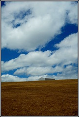 Skyline 5 (Rubio-Martinez) Tags: sky southwest field grass skyline clouds barn landscape fuji farm shed farmland land northcliffe xpro1 fujixpro1