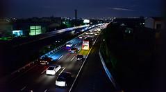 大年初三潭子與台中間傍晚的車流  DSC_3687 (Ming - chun ( very busy )) Tags: light lightpainting star nikon taiwan lighttrails nikkor 台灣 臺灣 d800 光 速度 車軌 æ´ç´è²